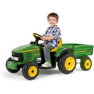 Peg Perego John Deere 6V Power Pull Tractor  Green : Target