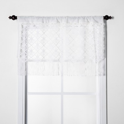 "24""x41"" Macrame Window Valance White - Opalhouse™"