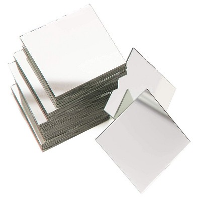 60 pack craft square mirror mosaic tiles 2 for diy projects art crafts home decorations