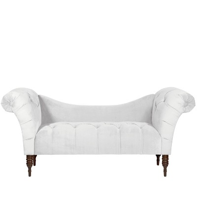 tufted chaise lounge mystere snow skyline furniture