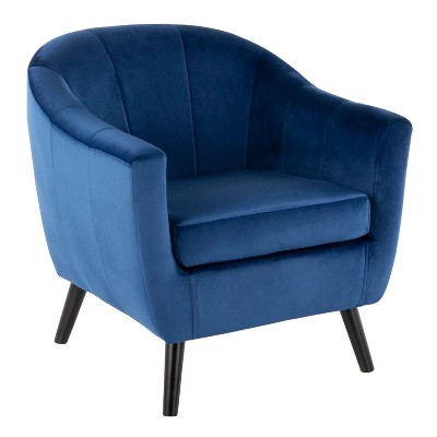Rockwell Contemporary Velvet Accent Chair - LumiSource