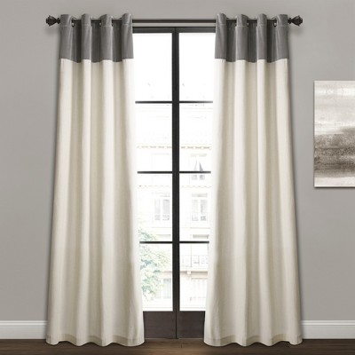 "84"" x 52"" Milo Linen Window Curtain Panels Set - Lush Decor"
