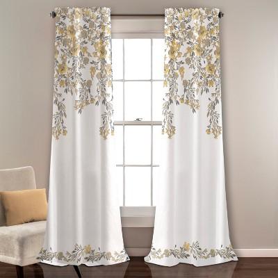 "84""x52"" Tanisha Room Darkening Window Curtain Panels Set - Lush Decor"