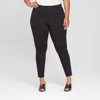 Women's Plus Size Pull-On Ponte Pants with Comfort Waistband - Ava & Viv™