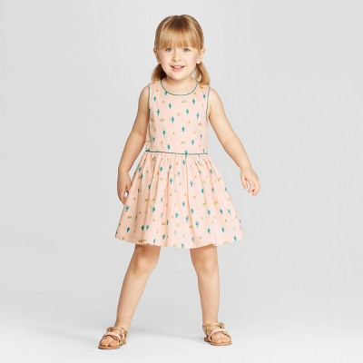 Genuine Kids® from OshKosh Toddler Girls' Mini Cactus Print A Line Dress - Peach