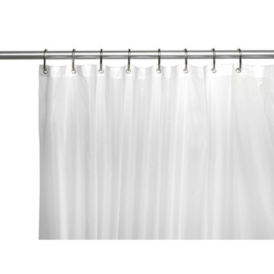 carnation home fashions 10 gauge stall sized shower liner with metal grommets 54 x 78 frosty clear