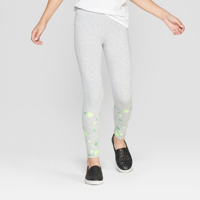 Girls' Shamrock Leggings - Cat & Jack™ Gray