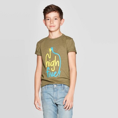 Boys' Short Sleeve Graphic T-Shirt - Cat & Jack™ Olive