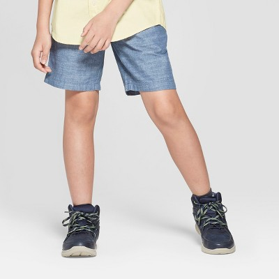 Boys' Chambray Chino Shorts - Cat & Jack™ Blue