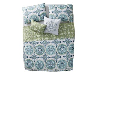 Citron Vandeliss Printed Medallion Quilt Set - VCNY®