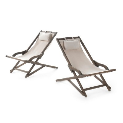 canvas sling chair stand up chairs nikki set of 2 wood and christopher knight home