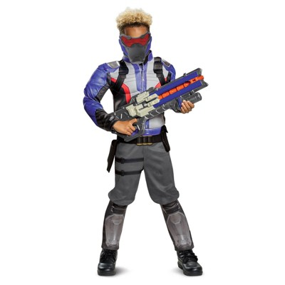 Boys' Overwatch Soldier 76 Classic Muscle Halloween Costume