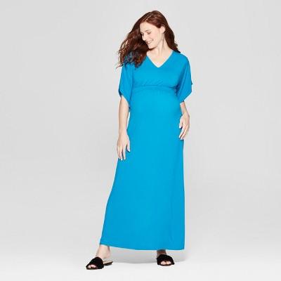 Maternity Kimono Sleeve Maxi Dress - Isabel Maternity by Ingrid & Isabel™ Blue