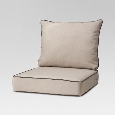 rolston 2pc outdoor replacement chair cushion set beige brown haven way