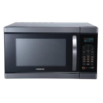 farberware 1 1 cu ft 1100 watt microwave oven with smart sensor cooking black stainless steel fmo11ahtbsj