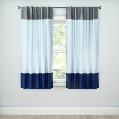 Colorblock Striped Blackout Curtain Panel - Pillowfort™