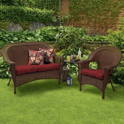 wicker porch chair cushions gym on 2pk leala texture outdoor arden selections target