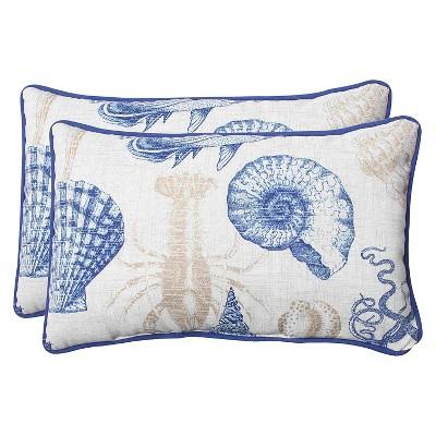 pillow perfect 2 piece outdoor lumbar pillows sealife