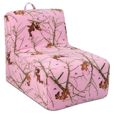Tween Foam Lounger With Handle - Mossy Oak Lifestyle Pink  - Lifestyle Pink - Mossy Oak Nativ Living