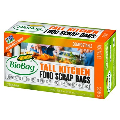 kitchen trash bags contemporary faucets biobag compostable food scrap tall 13 gallon about this item