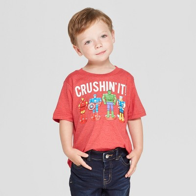 Toddler Boys' Marvel Short Sleeve T-Shirt - Red