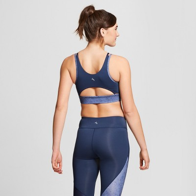 also women   high neck sports bra with back cut out joylab navy target rh