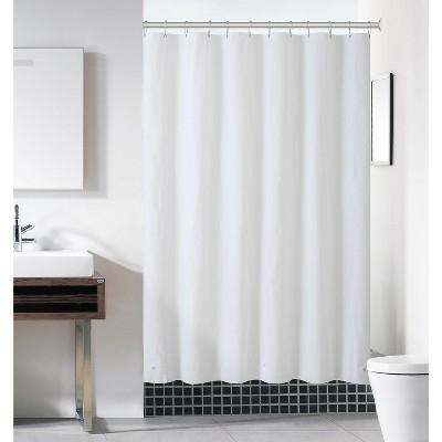 kate aurora hotel heavy duty 10 gauge vinyl shower curtain liners white 72 x 72 standard shower curtain liner