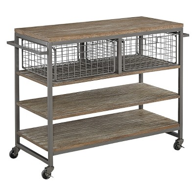 home styles kitchen cart pass through window barnside metro gray target