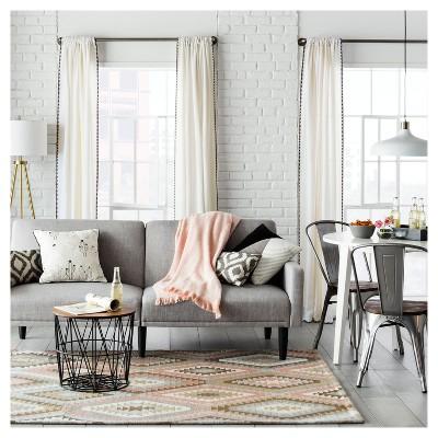 target accent chair room essentials walmart wicker cushions storage table black
