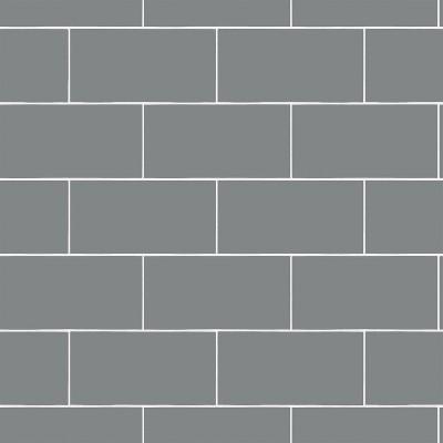 devine color textured subway tile peel stick wallpaper gray