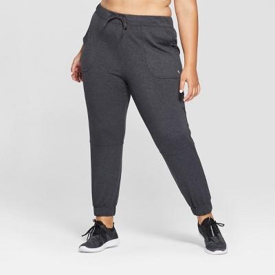 Women's Plus Drawstring Pants - JoyLab™ Charcoal Heather