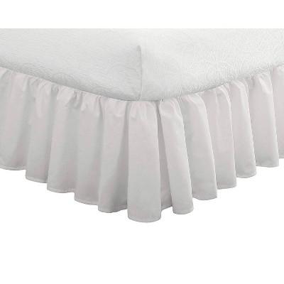 """Fresh Ideas Ruffled Bedskirt 18"""" Drop"""