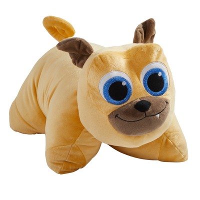 16 disney junior puppy dog pals rolly brown plush pillow pets