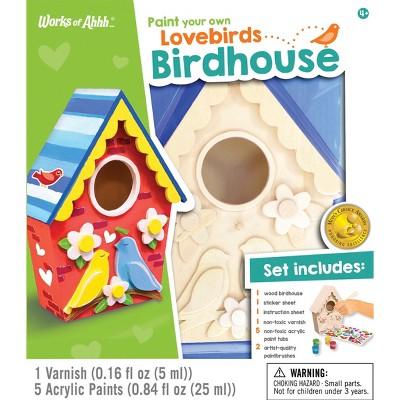 Masterpieces Paint Your Own Lovebirds Birdhouse