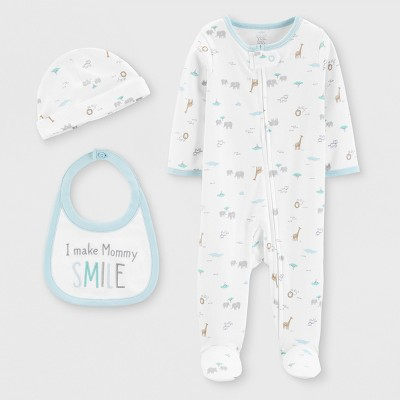 Baby Boys' 3pc Footed Sleepers - Just One You® made by carter's White