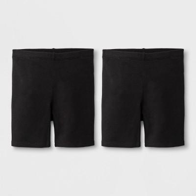 Toddler Girls' Adaptive 2pk Bike Shorts - Cat & Jack™ Black