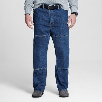 Dickies Men's Big & Tall Relaxed Straight Fit Double Knee Denim 6-Pocket Jeans