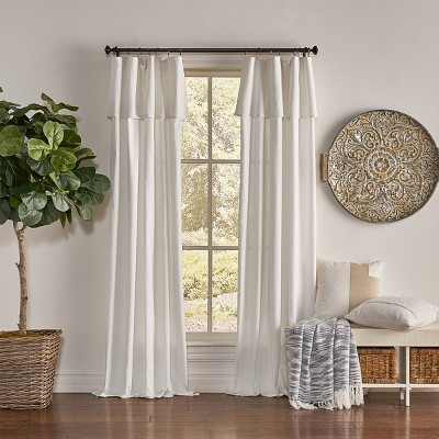 63 x50 drop cloth light filtering curtain panel off white mercantile