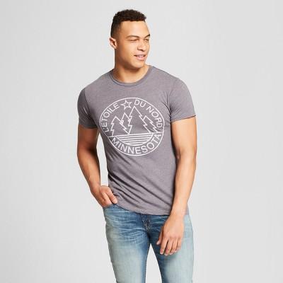 Men's Minnesota L'etoile Du Nord Short Sleeve Crew Neck T-Shirt - Awake - Charcoal