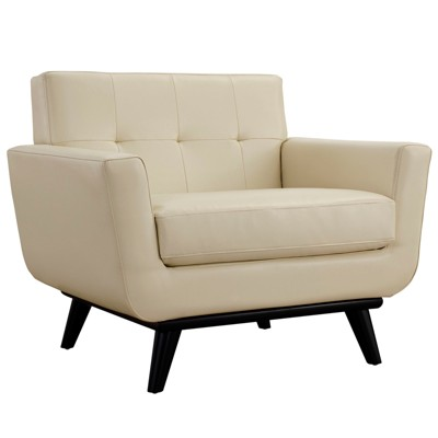 Engage Bonded Leather Armchair - Modway