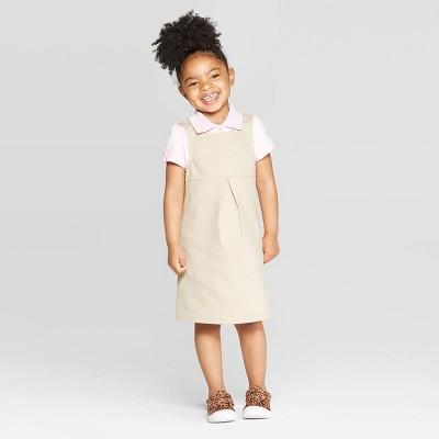 Toddler Girls' Uniform Tank Knit Jumper - Cat & Jack™ Khaki