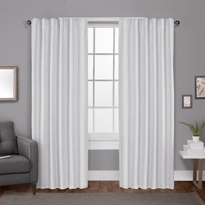 set of 2 96 x52 zeus solid textured jacquard with blackout liner hidden tab window curtain panel white exclusive home