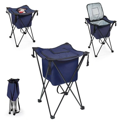 Picnic Time Sidekick Portable Standing Beverage Cooler - Navy