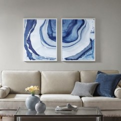 Framed Wall Art For Living Room Perfect Paint Colors Ethereal Printed Canvas 2pc Decorative Set Blue Target