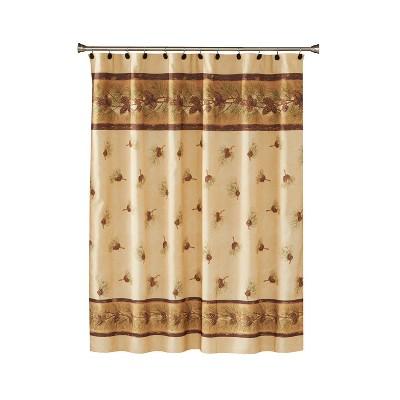 pinehaven fabric shower curtain beige brown saturday knight ltd