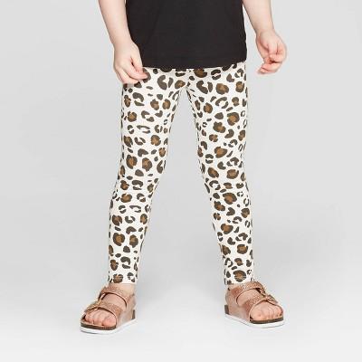 Toddler Girls' Leopard Print Leggings Pants - Cat & Jack™ Cream