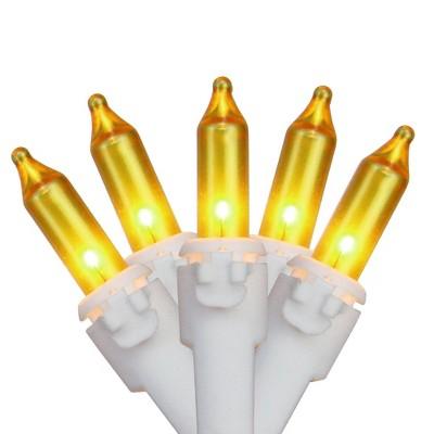 Brite Star 100ct Mini Opaque String Lights Gold - 22.24' White Wire