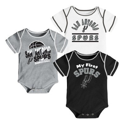 NBA San Antonio Spurs Boys' Rookie 3pk Body Suit Set