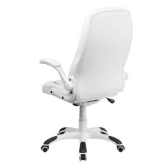 White Leather Swivel Desk Chair Used Power Chairs For Sale Executive Office Flash Furniture Target