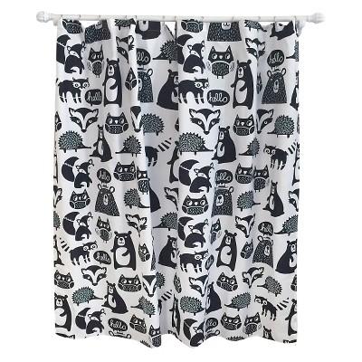 Forest Friends Shower Curtain Black - Pillowfort™